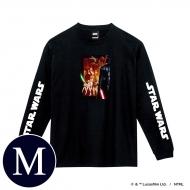 蓄光ロゴロングスリーブTシャツ(ブラック / 集合)Mサイズ
