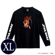 蓄光ロゴロングスリーブTシャツ(ブラック / 集合)XLサイズ