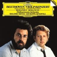 ヴァイオリン協奏曲、ロマンス第1番、第2番 シュロモ・ミンツ、ジュゼッペ・シノーポリ&フィルハーモニア管弦楽団