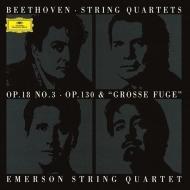 弦楽四重奏曲第13番(終楽章に大フーガを使用した初演版)、第3番 エマーソン弦楽四重奏団