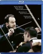 チャイコフスキー:交響曲第5番、ショスタコーヴィチ:ヴァイオリン協奏曲第1番 アンドリス・ネルソンス&ゲヴァントハウス管弦楽団、バイバ・スクリデ