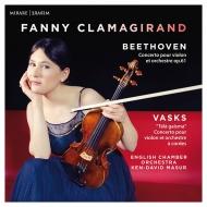 ベートーヴェン:ヴァイオリン協奏曲、ヴァスクス:遠き光 ファニー・クラマジラン、ケン=デイヴィッド・マズア&イギリス室内管弦楽団
