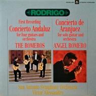 アランフエス協奏曲、アンダルシア協奏曲 ロメロ・ギター四重奏団、サンアントニオ交響楽団 (180グラム重量盤レコード)