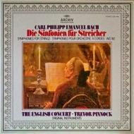 6つのシンフォニア Wq.182 ピノック&イングリッシュ・コンサート (180グラム重量盤レコード)