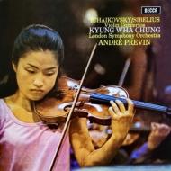 ヴァイオリン協奏曲 チョン・キョンファ(vn)プレヴィン&ロンドン交響楽団 (180グラム重量盤レコード)