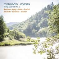 チャイコフスキー:弦楽四重奏曲第2番、ボロディン:弦楽四重奏曲第2番 アンティエ・ヴァイトハース、ビョル・カン、ターニャ・テツラフ、他