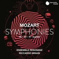 交響曲第39番、第40番、第41番『ジュピター』 リッカルド・ミナーシ&アンサンブル・レゾナンツ(2CD)(日本語解説付)