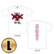 EXILE PERFECT LIVE ロゴTシャツ(WHITE/L)