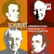 交響曲第4番『悲劇的』、第6番、イタリア風序曲 ハインツ・ホリガー&バーゼル室内管弦楽団