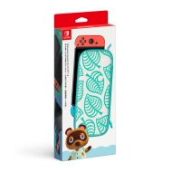 Nintendo Switchキャリングケース あつまれ どうぶつの森エディション 〜たぬきアロハ柄〜(画面保護シート付き)