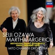 ベートーヴェン:ピアノ協奏曲第2番、グリーグ:ホルベルク組曲、他 マルタ・アルゲリッチ、小澤征爾&水戸室内管弦楽団