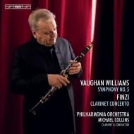 ヴォーン=ウィリアムズ:交響曲第5番、フィンジ:クラリネット協奏曲 マイケル・コリンズ&フィルハーモニア管弦楽団