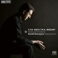 C.P.E.バッハ:『スペインのフォリア』による12の変奏曲、モーツァルト:きらきら星変奏曲、他 エヴァルト・デメイエル(チェンバロ)