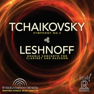 チャイコフスキー:交響曲第4番、レシュノフ:二重協奏曲 マンフレート・ホーネック&ピッツバーグ交響楽団、マイケル・ルシネク、ナンシー・ゴーズ