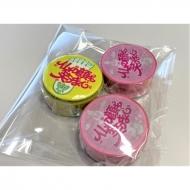 [3次受付] 缶バッジ付きマスキングテープ(黄色缶バッジ付き1巻+ピンク2巻セット) / タクフェス『仏の顔も笑うまで』