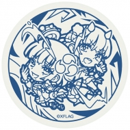 珪藻土コースター 天魔調伏の魔法童女 風神雷神