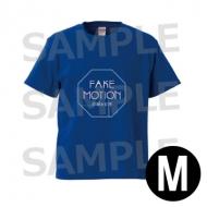 ロゴ Tシャツ 青(サイズM) / FAKE MOTION -卓球の王将-