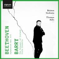 ベートーヴェン:交響曲第4番、第5番『運命』、第6番『田園』、バリー:ヴィオラ協奏曲、他 トマス・アデス&ブリテン・シンフォニア、ローレンス・パワー、他(2CD)