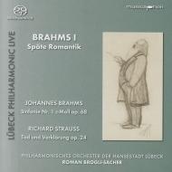 ブラームス:交響曲第1番、R.シュトラウス:死と浄化 ロマン・ブローリ=ザッハー&リューベック・フィル