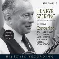 ヘンリク・シェリング、SWR協奏曲録音集 1956〜1984 バッハ、ベートーヴェン、ベルク、ブラームス、ラロ、モーツァルト、シューマン、シベリウス、シマノフスキ(5CD)