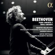 ピアノ協奏曲第3番、三重協奏曲 マルティン・ヘルムヒェン、アンドルー・マンゼ&ベルリン・ドイツ響、アンティエ・ヴァイトハース、マリー=エリザベート・ヘッカー