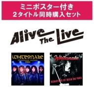 ホワイトスネイク 12/4発売Alive The Live シリーズ 【ポスター特典付き2タイトル同時購入セット】(3CD)