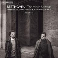 ヴァイオリン・ソナタ第5番『春』、第6番、第7番 フランク・ペーター・ツィンマーマン、マルティン・ヘルムヒェン(平行弦ピアノ)(日本語解説付)
