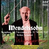 メンデルスゾーン:交響曲第3番『スコットランド』、ウェーバー:舞踏への勧誘、『魔弾の射手』序曲、他 フェリックス・ワインガルトナー&ロイヤル・フィル、バーゼル響