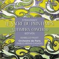 ストラヴィンスキー:春の祭典、エトヴェシュ:アルハンブラ パブロ・エラス=カサド&パリ管弦楽団、イザベル・ファウスト(日本語解説付)