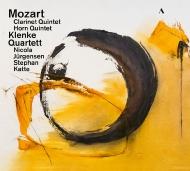 クラリネット五重奏曲、ホルン五重奏曲、5つのフーガより クレンケ四重奏団、ニコラ・ユルゲンセン、ステファン・カッテ(日本語解説付)