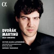 Dvorak Cello Concerto, Martinu Cello Concerto No.1 : Julien-Laferriere(Vc)Madaras / Liege Royal Philharmonic