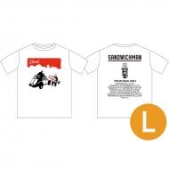 ツアーTシャツ ホワイト(サイズL) / サンドウィッチマン 2020〜21 ライブグッズ