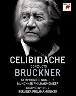 交響曲第6番、第7番(2種)、第8番 セルジウ・チェリビダッケ&ミュンヘン・フィル、ベルリン・フィル(1990〜1992)(4BD)