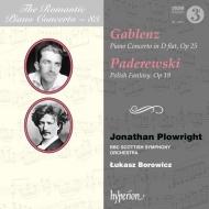 ガブレンツ:ピアノ協奏曲、パデレフスキ:ポーランド幻想曲 ジョナサン・プロウライト、ウカシュ・ボロヴィツ&BBCスコティッシュ交響楽団