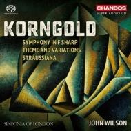 交響曲、シュトラウシアーナ、主題と変奏 ジョン・ウィルソン&シンフォニア・オブ・ロンドン(日本語解説付)