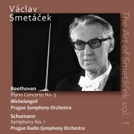 ベートーヴェン:皇帝(ミケランジェリ、プラハ響、1957年)、シューマン:春(プラハ放送響、1971年ステレオ) ヴァーツラフ・スメターチェク