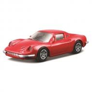 トミカプレゼンツ ブラーゴ レース&プレイシリーズ 1:43 ディ-ノ 246 GT(赤)