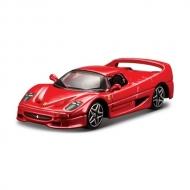 トミカプレゼンツ ブラーゴ レース&プレイシリーズ 3インチ F50(赤)