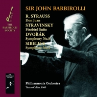 シベリウス:交響曲第2番、ドヴォルザーク:交響曲第8番、ストラヴィンスキー:『火の鳥』組曲、他 ジョン・バルビローリ&フィルハーモニア管弦楽団(1963)(2CD-R)