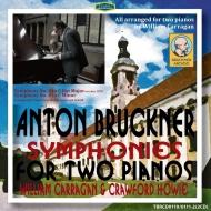 交響曲第4番 第1稿、第8番(2台ピアノ編曲版) ウィリアム・キャラガン、クロフォード・ホヴィ(2CD)