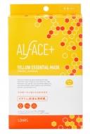 ALFACE+オルフェス イエローエッセンシャルマスク 4枚