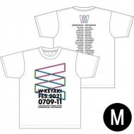 ロゴTシャツ ホワイト サイズM / W-KEYAKI FES.2021
