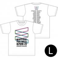 ロゴTシャツ ホワイト サイズL / W-KEYAKI FES.2021