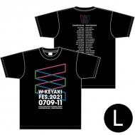 ロゴTシャツ ブラック サイズL / W-KEYAKI FES.2021