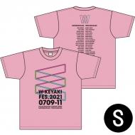 ロゴTシャツ ピンク サイズS / W-KEYAKI FES.2021