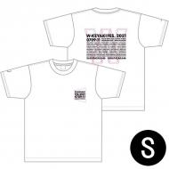 ダブルTシャツ ホワイト×ピンク サイズS / W-KEYAKI FES.2021