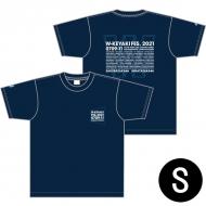 ダブルTシャツ ネイビー×スカイブルー サイズS / W-KEYAKI FES.2021