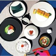 ごはん味噌汁海苔お漬物卵焼き feat.梅干し