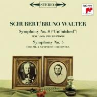 交響曲第8番『未完成』、第5番 ブルーノ・ワルター&ニューヨーク・フィル、コロンビア交響楽団