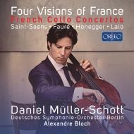 Four Visions Of France-saint-saens, Faure, Honegger, Lalo: Muller-schott(Vc)A.bloch / Deutsches So
